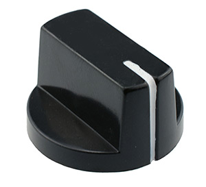 Black Wing Knob with Screw Fixing