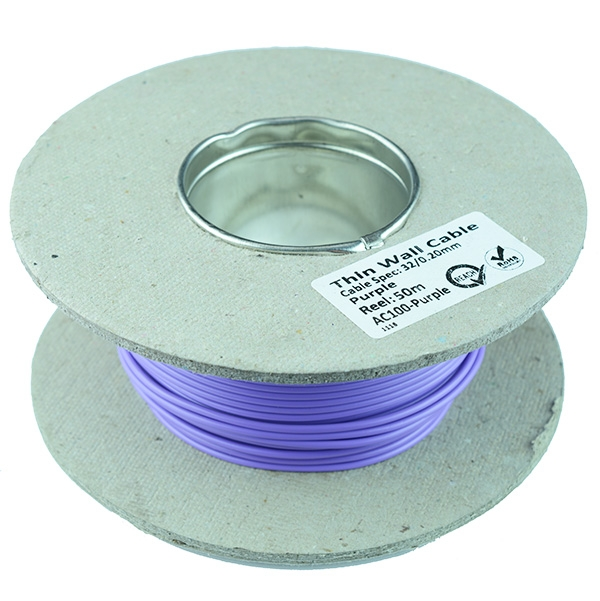 Thin Wall 1mm 14/0.3mm Cable 50M Reel