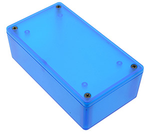 1591XX Series Translucent Blue Hammond Enclosures