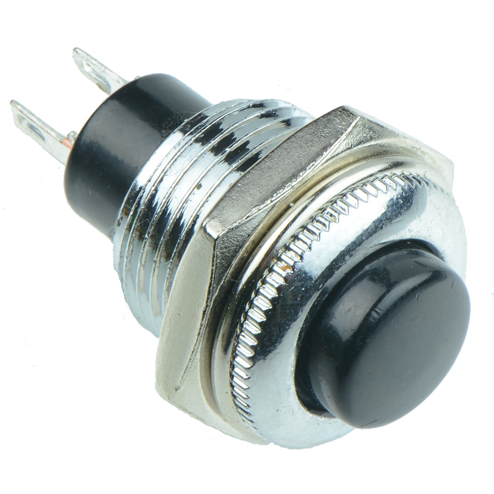 Metal Low Profile 12mm Push Button Switches SPST