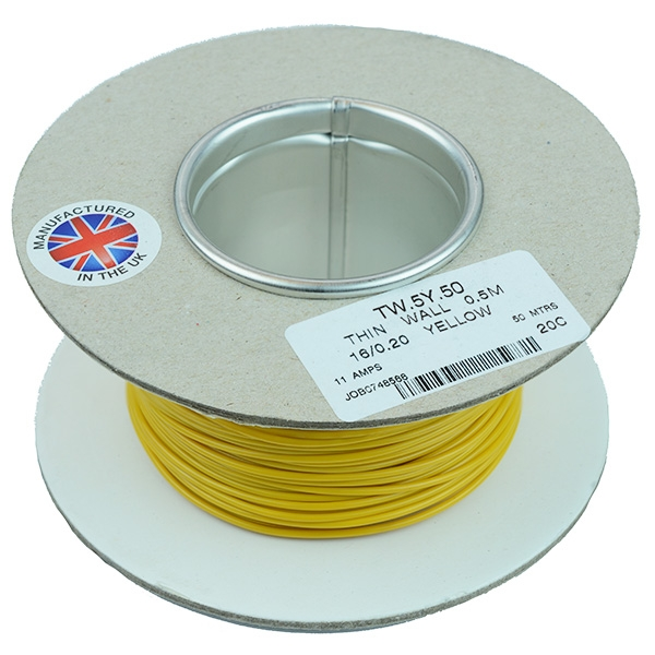 0.5mm² Thin Wall Cable 16/0.2mm 50M