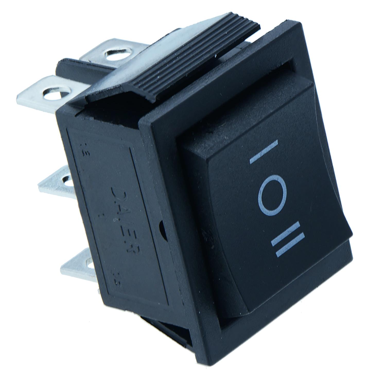 On Off Large Black Rectangle Rocker Switch Car Dash 6 Pin Dpdt Round 3 Prong Blue Led Spst Toggle 12v Ebay