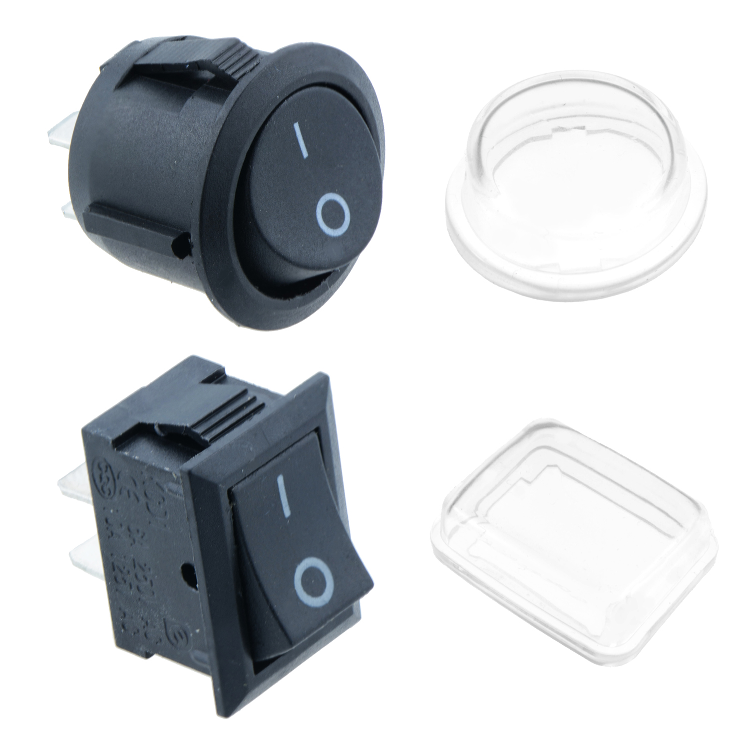 On Off Round Rectangle Rocker Switch Waterproof Cover