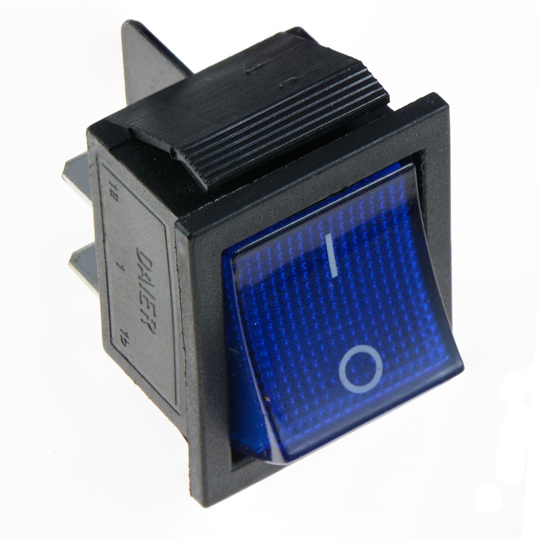 Blue Illuminated Large On Off Rocker Switch 12v Dpst Car Dash Ebay Lighted Toggle Spst 25a