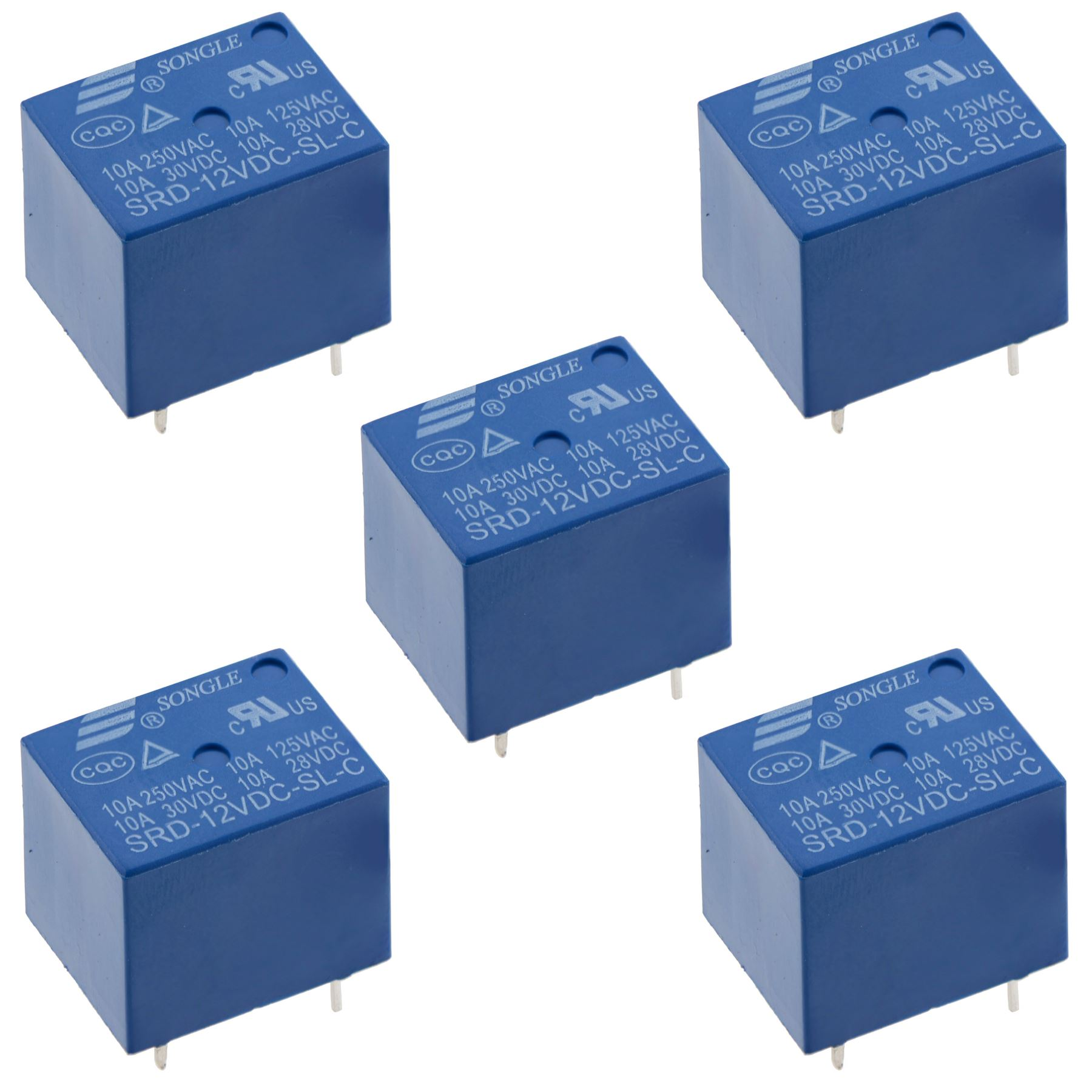 5V / 12V / 24V Mini Songle Relay SPDT 5-Pins PCB - 1st Class   eBay