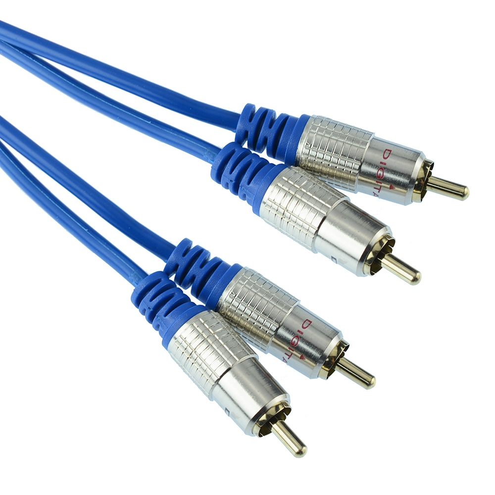 Twin RCA Gold Plated Cables