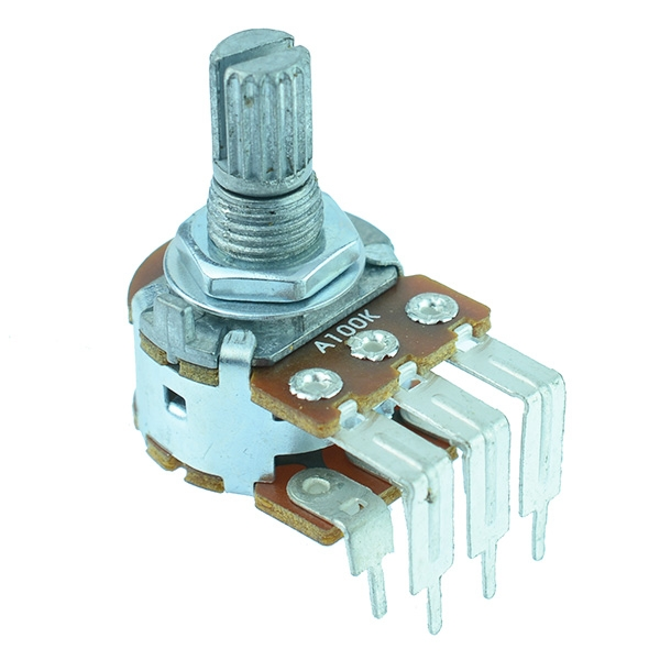Right Angle Stereo 16mm Potentiometers