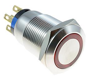 Vandal Resistant illuminated 19mm Switches
