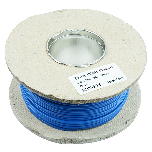 Thin Wall 2mm 28/0.3mm Cable 50M Reel