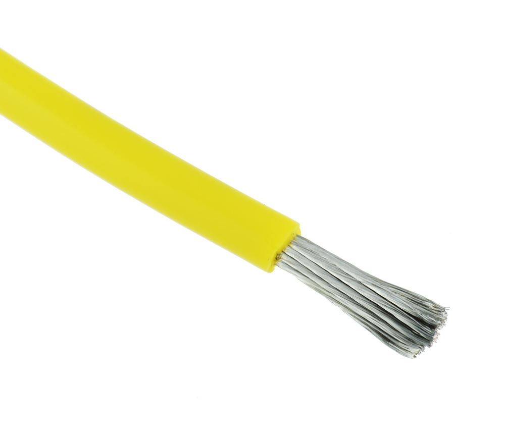 Yellow Silicone Lead Wire 10AWG 1050/0.08mm (price per metre)