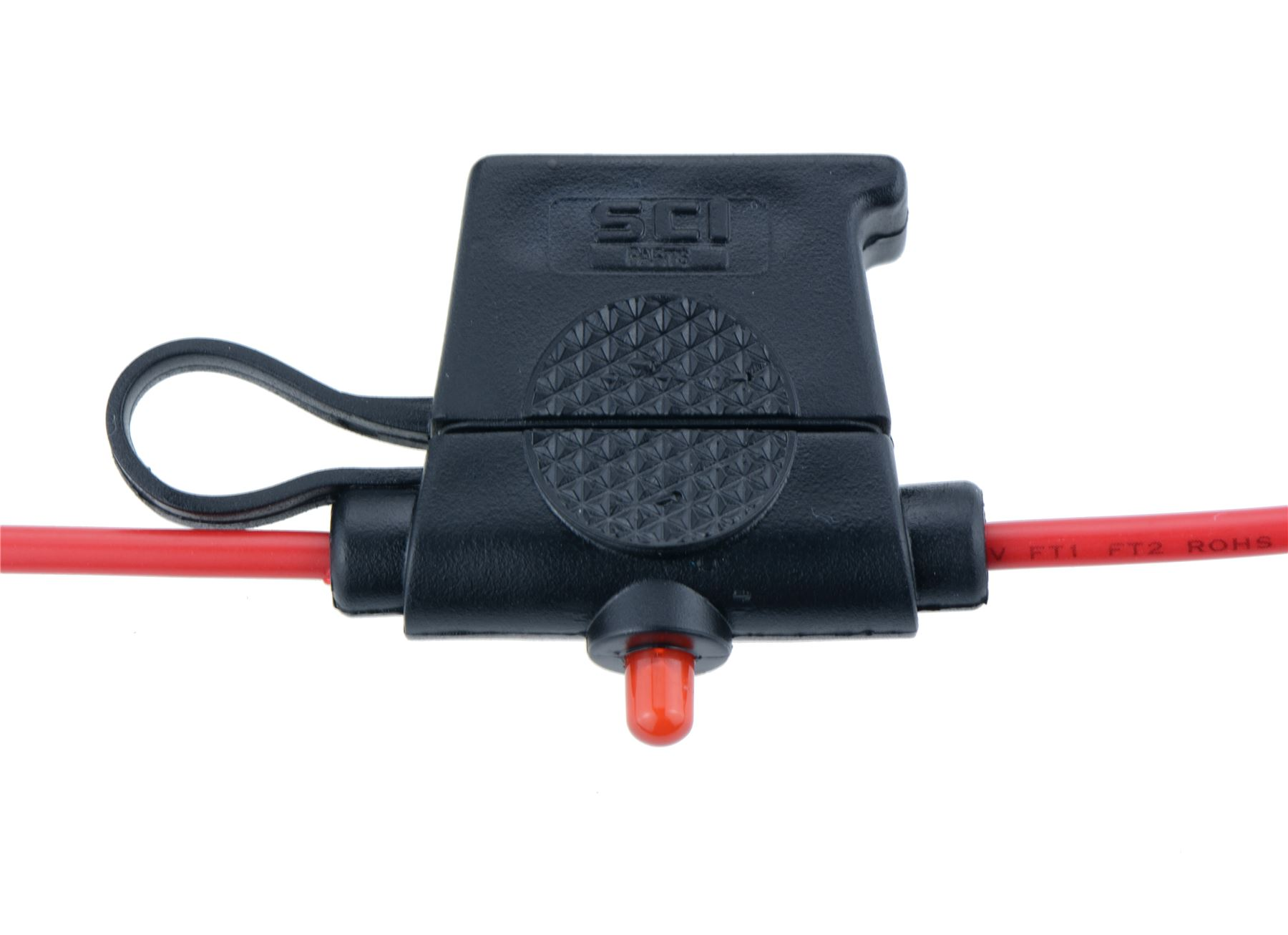 Red LED Automotive Standard Blade Inline Fuseholder 20A R3-59